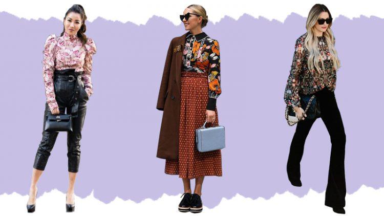 Những chiếc áo blouse hoặc áo sơ mi mang họa tiết hoa cũng là một lựa chọn thú vị.